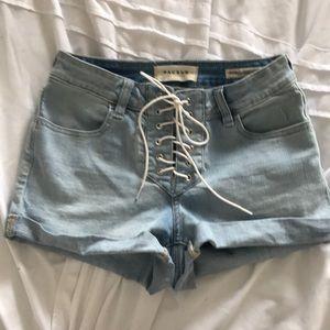 Pacsun high waist lace up shorts